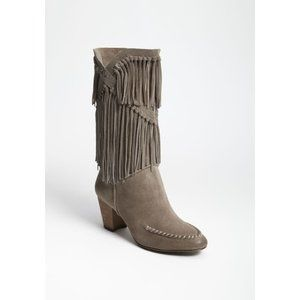 7 FOR ALL MANKIND Caddie Fringe Boots, Sz 7